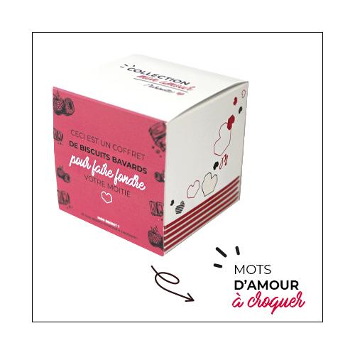 Marinette biscuits à messages personnalisés pour célébrer l'amour