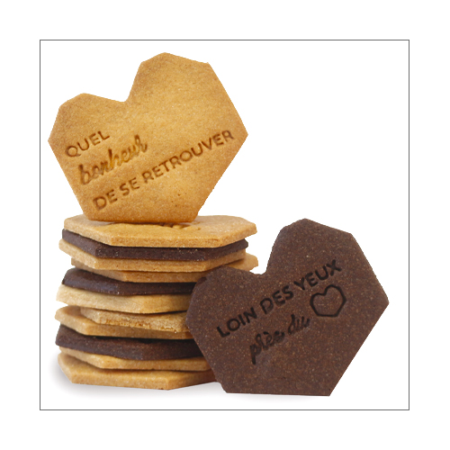 Marinette biscuits à messages personnalisés pour les amoureux de la vie