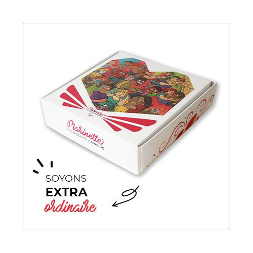 Marinette biscuits à messages personnalisés pour célébrer la diversité et la tolérance