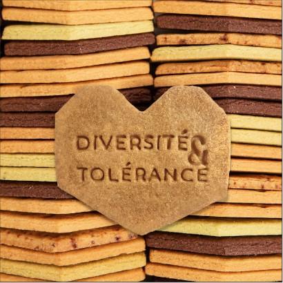 Coffret Marinette exclusifs biscuits personnalisés sur le thème de la diversité et de la tolérance