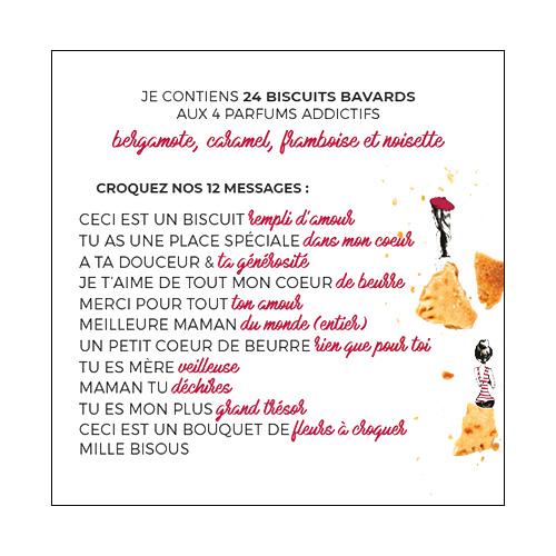 messages du coffret de biscuits personnalisés fête des mères